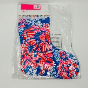 New in bag! Lilly Pulitzer Christmas stocking!